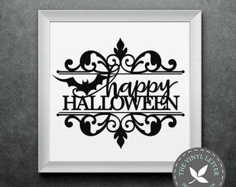 Happy Halloween Bat | Vinyl Wall Home Decor Holiday Decal Sticker