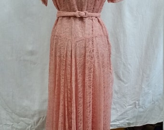 beautiful 1950's lace gown