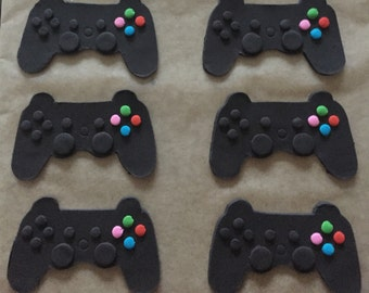 PS3 Inspired Video Game Controller Cupcake Toppers  - 6