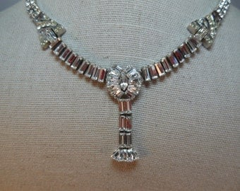 Signed Phyllis Sterling Rhinestone Necklace