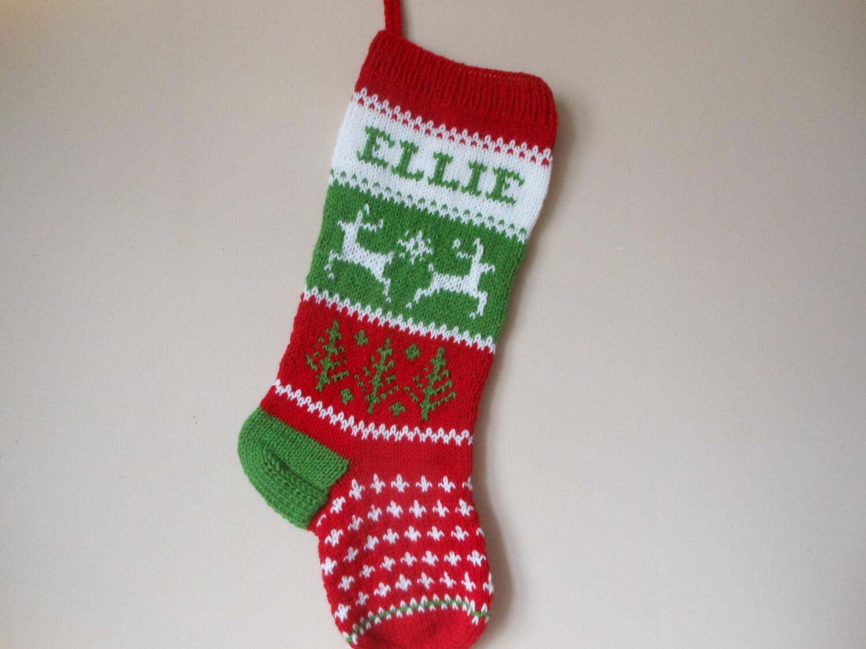 Custom Knitted Christmas Stockings