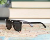 Ebony & Maple Wood Frame Sunglasses, Real Mens Wood Sunglasses, Polarized Wood Sunglasses - ALP-E