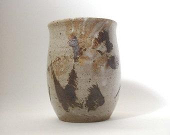 vintage studio pottery vase, vintage vase, vase, pottery planter, art pottery vase, rustic