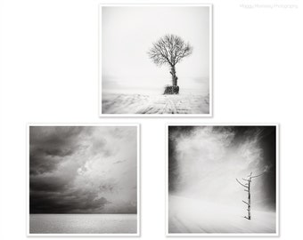 Triptych Storm Art Print Set of 3, Print Set, Set of 3, Wall Art Print Set