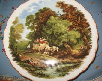 Decorative J.C.Van Hunnick France.Plaque Limoges wall plate.