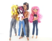 Custom Blue Jeans made to fit Monster Ever After High Dolls