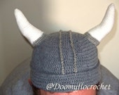 Viking horned helmet bonnet for adults