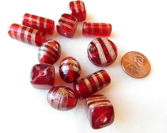 Tube-Square-Coin-Oval Vintage Beads