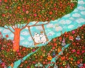 Moomin Fun Art Print on Paper 8.5/11
