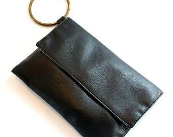 Black Clutch, Evening purse, Vegan Hadbag, Black Evening Bag, Vegan Clutch Purse, Bridsmaid Gift
