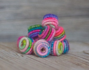 Small Handmade Fabric Textile Beads for Artisan Jewelry Designs - Art Beads - Beading supplies - Jewelry beads - Bead store - beads