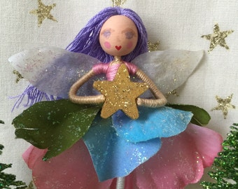 "Fairy ornament, Ballet Ornament, 3.5"" ornament, Fairy decoration, Ballet Decoration, Purple Pink Ornament"
