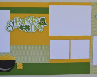 12x12 Two Page Pre-Made Layout - St. Patricks Day