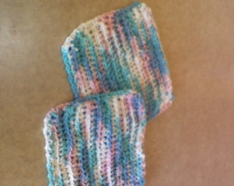 Pan protectors pair, crochet, aprox 8x10, many colors, can also be used as dish cloths