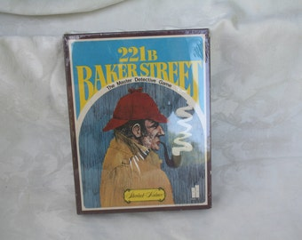 Vintage 1977 Sherlock Holmes 221B Baker Street Board Game!  FACTORY-SEALED!  Never Played!  Very Cool!