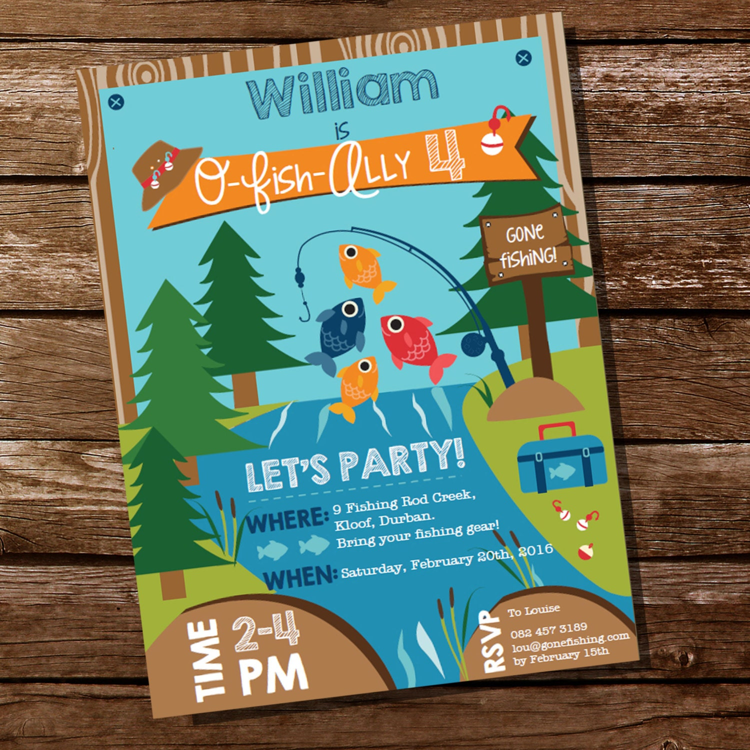 Fishing Invitation Fishing Invite Gone Fishing Party