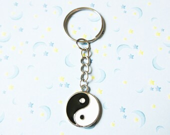Yin Yang Charm Keychain, Yin Yang Key Chain, Bag or Purse Charm