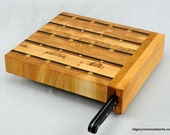 End Grain Chopping Block with Knife Holder