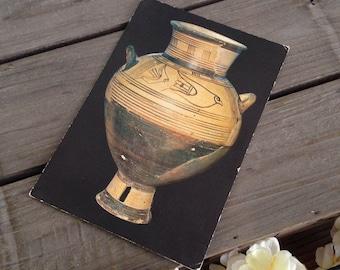 Greek amphora postcard