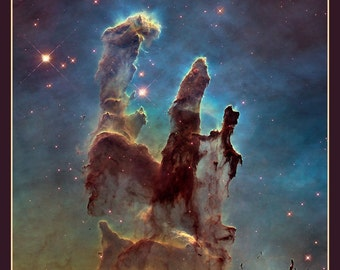 Fridge Magnet Astronomy, 55 Pillars of Creation, outer space, Great space photography, Hubbel