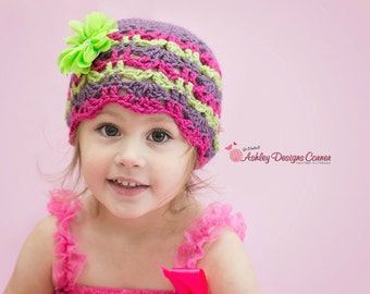 Crochet Pattern Audrey Beanie - PDF - Instant Digital Download (Newborn - Adult)