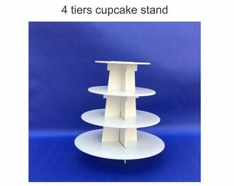 4 tier cupcake stand round