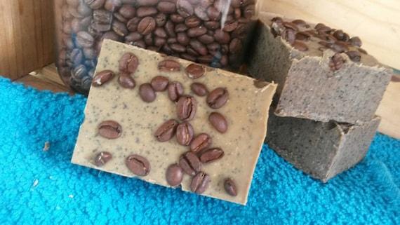 Perk Up Coffee Soap Organic oils Fair Trade Vegan 5.5 ozs