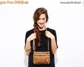 SALE / Small Leather Purse - Shoulder Bag - Leather CrossBody Bag - Three Leather pouches Bag - Leather Hip bag - Detachable Pouches  - Cinn