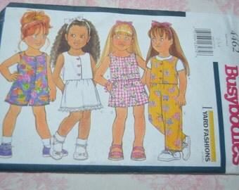 BUtterick 4462 Childrens Top Romper Skirt Shorts Pants Sewing Pattern - UNCUT - Size 2 3 4