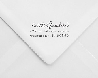 Wedding Return Address Stamp - Great for Invitations - Personalized Gift