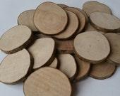 Wooden blanks, 5-6cm, Tree slices, wood slices, branch slices, wooden slices, wedding, UK, name tags, wedding favours, wedding, wedding name