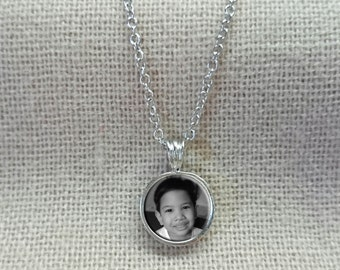 Personalized photo necklace, custom picture necklace