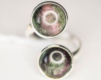 Green & Purple Shimmery Ring