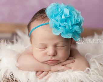 FREE SHIPPING! Blue Headbands, Baby Headband, Newborn Headbands, Blue Baby Headbands, Baby Girl Headband, Photography Prop