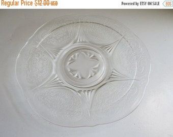 SALE Depression Clear Glass Sherbet Plate Royal Lace Pattern Crystal Depression Glass