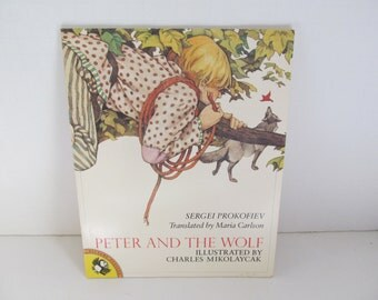 Peter and The Wolf Book Childrens Books Peter and the Wolf Sergio Prokofiev 80s children books