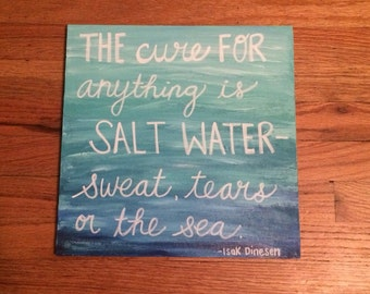 Quote Painted on Birch Wood