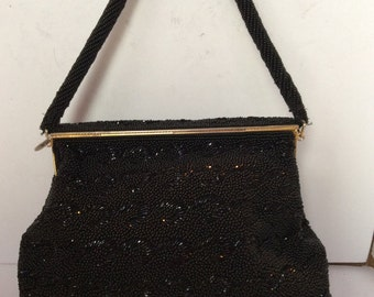 Black jeweled clutch