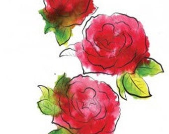 Rubbernecker Stamp - 3 Roses