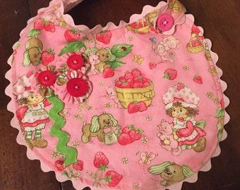 Berry Sweet Strawberry Shortcake bib