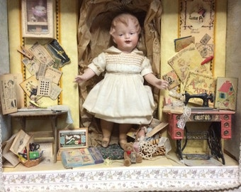 Heubach All-Bisque Travel Doll Gracie Magazine Featured OOAK