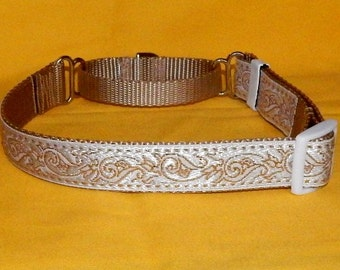 White and Gold collar