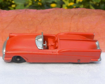 1950's Convertible Tootsie Toy - Die-cast Red, 2 Seater, Made in USA - Vintage - Fabulous!