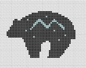 Zuni Star Bear Fetish Totem Small South West Cross Stitch Pattern PDF