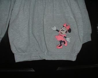 Grey Girl's Embroidered  & Monogramable Long Sleeve Bubble Sweatshirt--Size 4T-Mouse