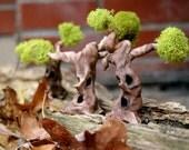 Spooky Sapling..Fairy House Miniature Tree Terrarium Accessories Fairy Garden House Miniature Tree Fantasy Clay Trees Terrarium Decor
