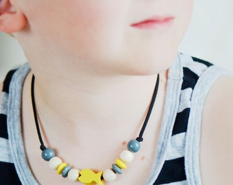 Boy necklace, car necklace, fish necklace, toddler necklace, truck, fish, wood product, children necklace, toddler gift, kids accessories
