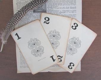 Table Numbers Vintage Wedding Retro Flinch Cards OOAK Table Numbers 1 Through 15