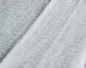 White linen tablecloth reversible damask natural linen with geometric pattern 69 inch square table cloth Mother's day gift