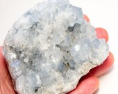 Celestite Specimen Sky Blue Beautiful Angelic, 535 Grams 1.2 Pounds Madagascar On Sale, Fast Shipping!